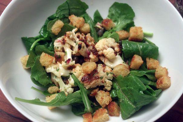 Marinated Roasted Cauliflower Salad | Salad Time | Pinterest