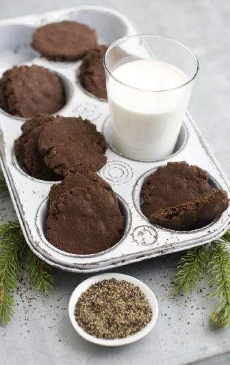 Chocolate pepper sable cookies | biŠkoti | Pinterest
