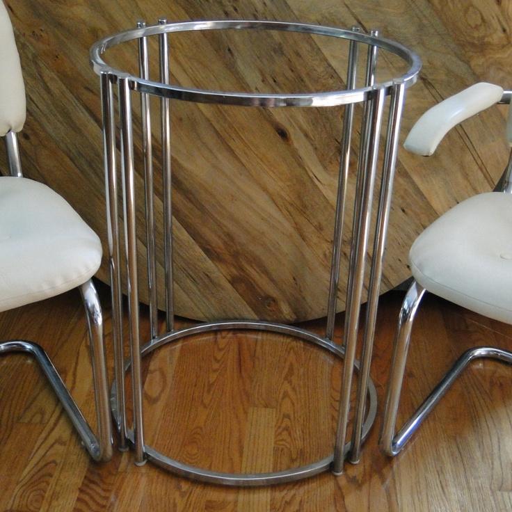 Metal Table Base Ideas Stone Pinterest