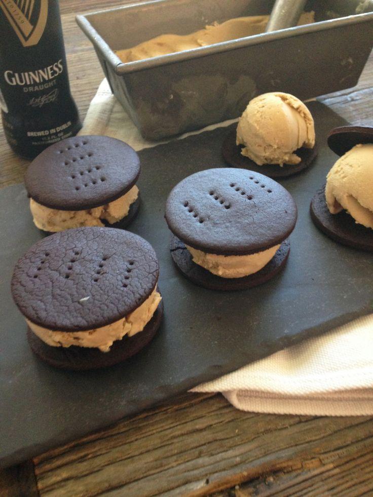 Guinness Ice Cream Sandwiches   Delicious Desserts   Pinterest