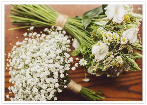 Simple Wildflower Bouquets Wedding Day Pinterest