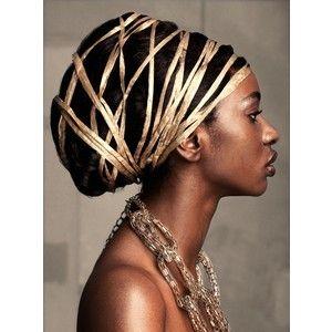 gold string head wraps pinterest