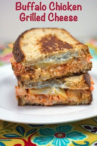 We Are Not Martha - Buffalo Chicken Grilled Cheese...must make this ...