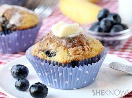 Banana and blueberry cornbread muffins | Muffins | Pinterest