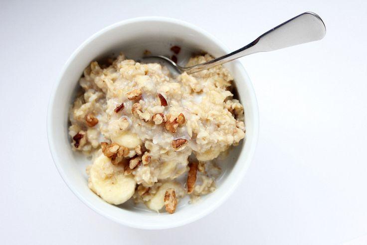 Banana Nut Bread Oatmeal. So tasty!!! | food | Pinterest