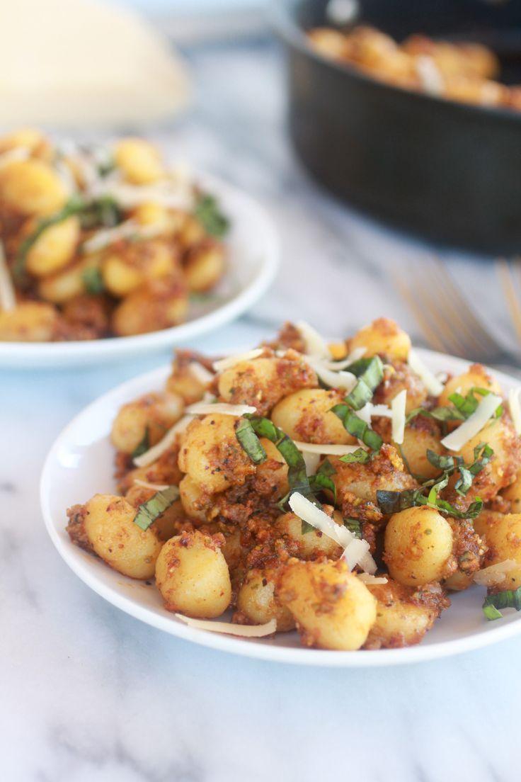 Crispy Gnocchi with Pistachio Pesto. - Half Baked Harvest, use vegan ...