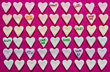 DIY Conversation Heart Candy — Punchfork | Yumminess | Pinterest