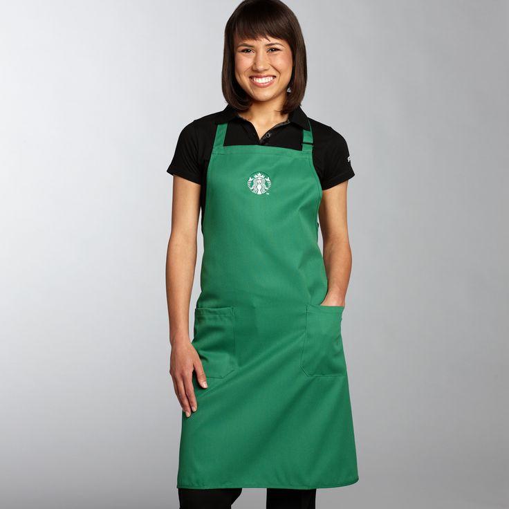 Apron starbucks logo 2 pack 18 00 cafe kiosk pinterest