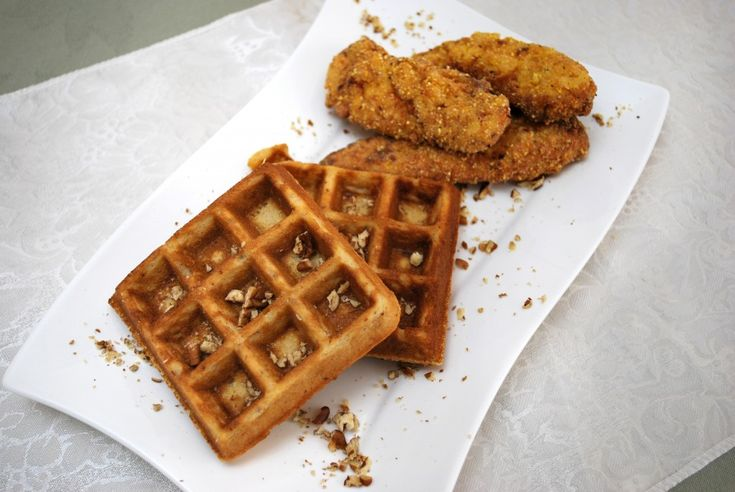 Fried Chicken Tenders and Caramel Pecan Waffles, gluten free by Pamela ...
