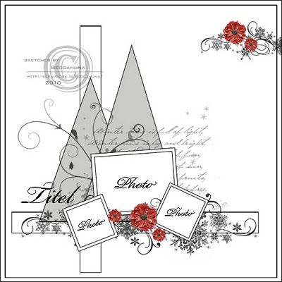 Love this idea for a Christmas scrapbook page
