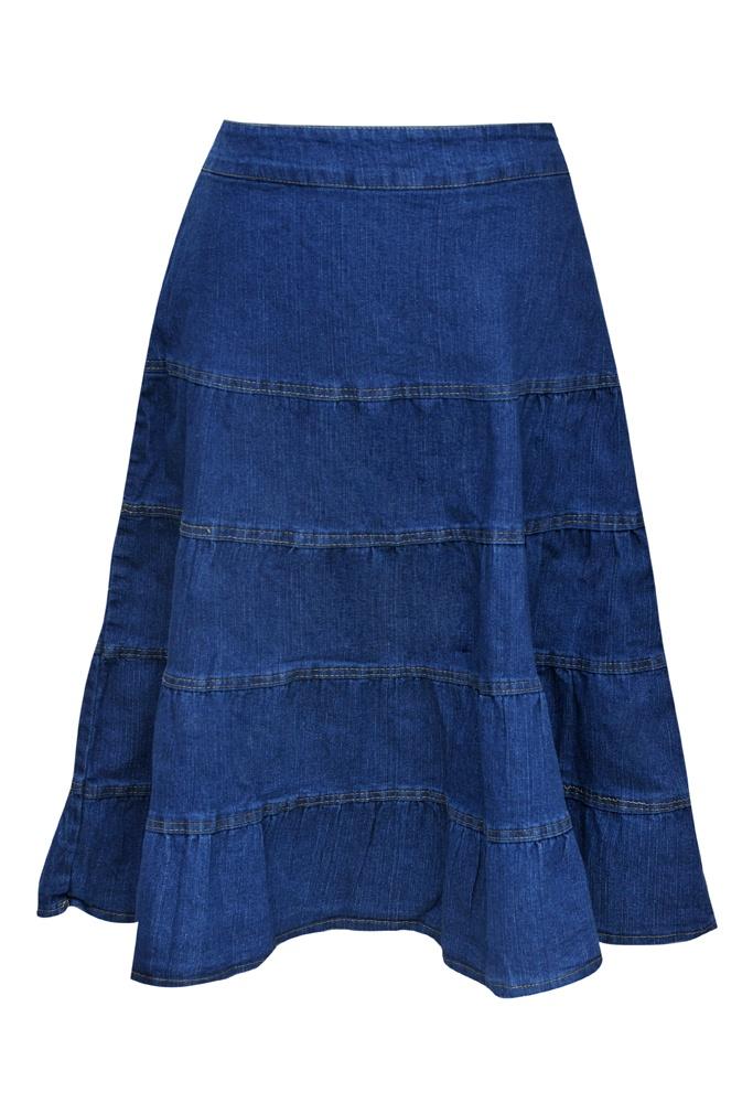 denim tiered skirt my style