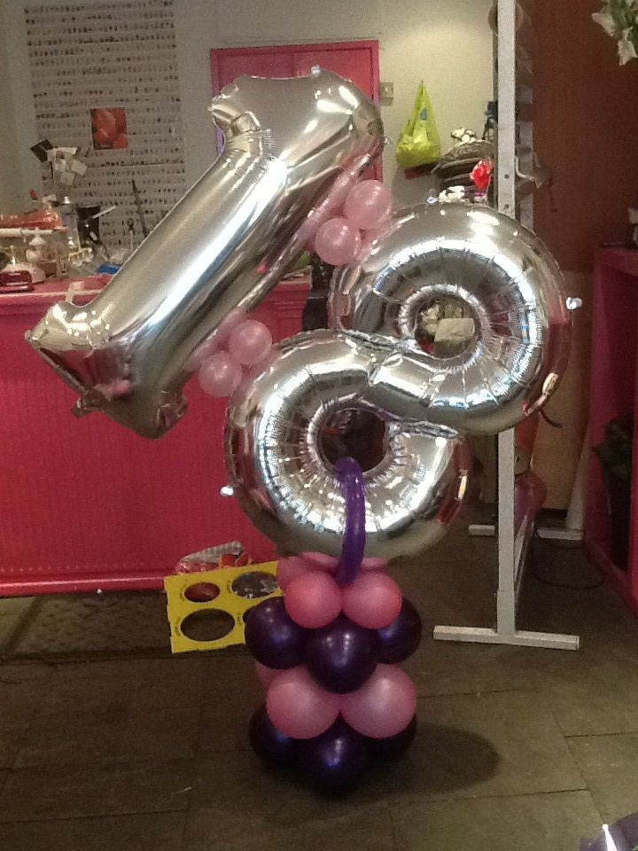 18th birthday balloon balloons with numbers pinterest for Balloon decoration ideas for 18th birthday