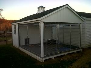 X  Chain Link Dog Kennel