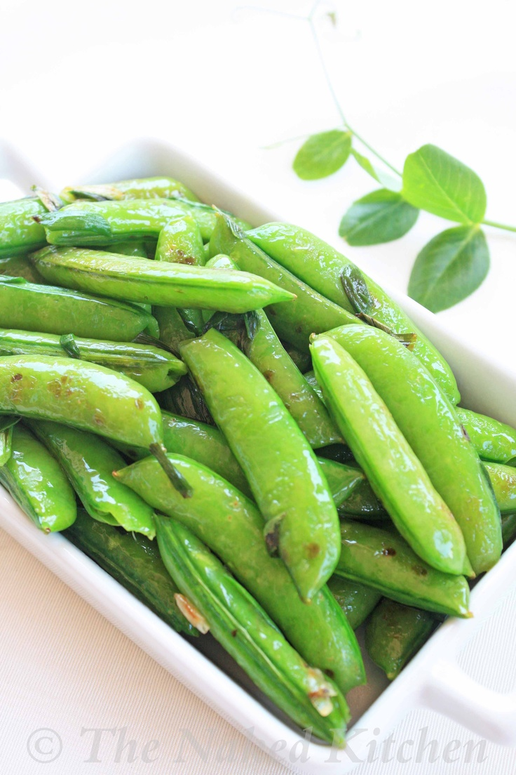 Seared Sugar Snap Peas Great recipe, just needed to be covered a few ...