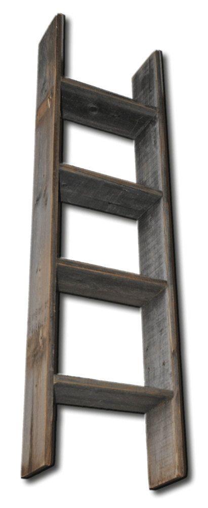 Barnwood decor rustic decorative 4ft display ladder for Decor ladder
