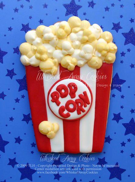 Popcorn | Decorated cookies | Pinterest