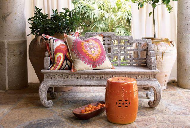Orange Garden Stool Color Burnt Orange Terracotta Home Decor P