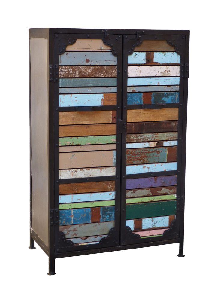 Mueble de madera reciclada decora lowcost pinterest - Madera reciclada muebles ...