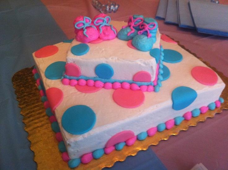 Gender Reveal Party cake K & J Pinterest
