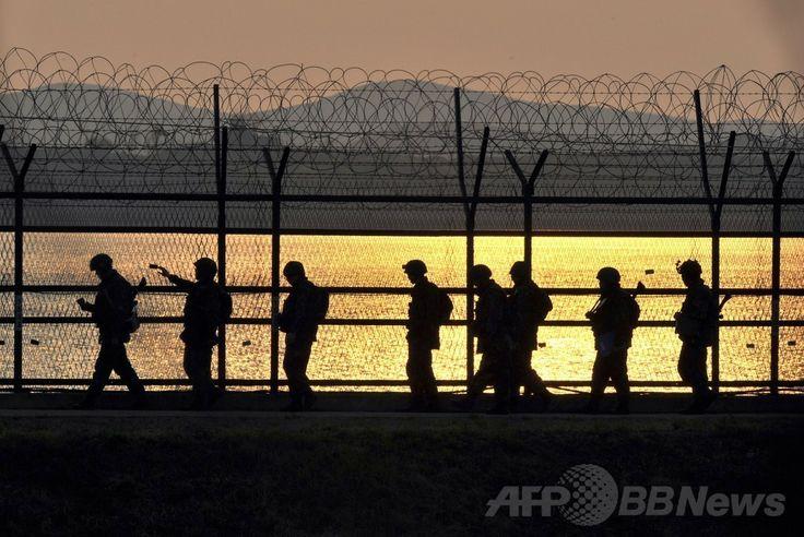 朝鮮半島を南北に隔てる軍事境界線の韓国側にある坡州(Paju)の 非武装...  Found o