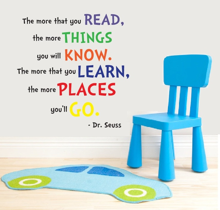 Vinyl wall quote dr seuss quote home decor wall decal for Dr seuss wall mural decals