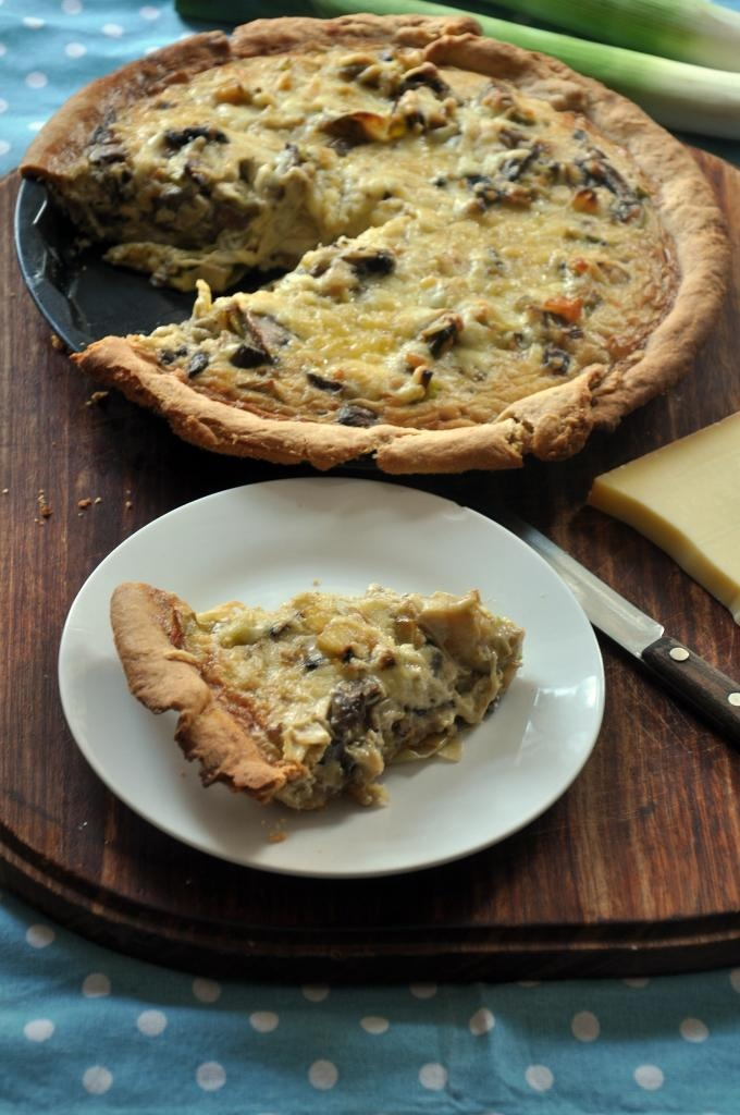 More like this: quiche and mushrooms .