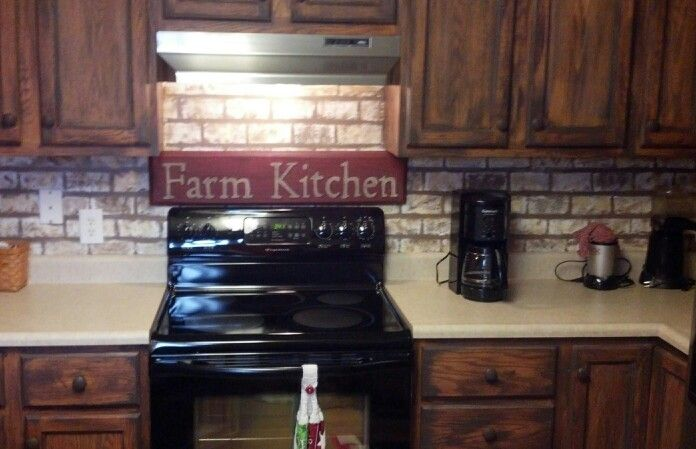 painted faux brick backsplash craft ideas pinterest