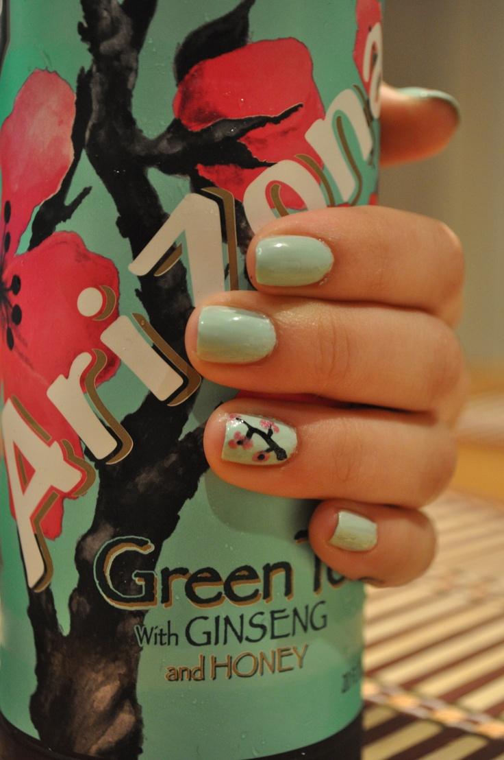 arizona green tea nails!