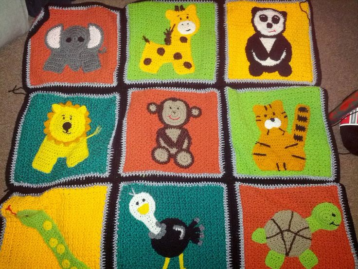 Baby Zoo Afghan Crochet Pattern : Crochet Zoo Blanket ~ Inspiration only DIY Pinterest