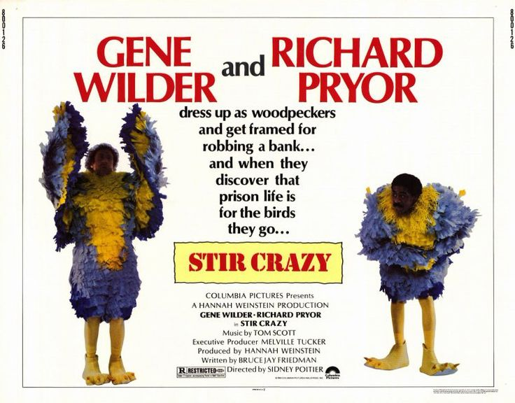 Stir Crazy | August - September , October Movies | Pinterest