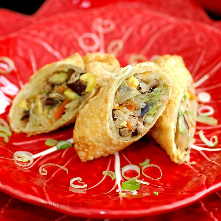 Chinese Egg Rolls for Chinese New Year