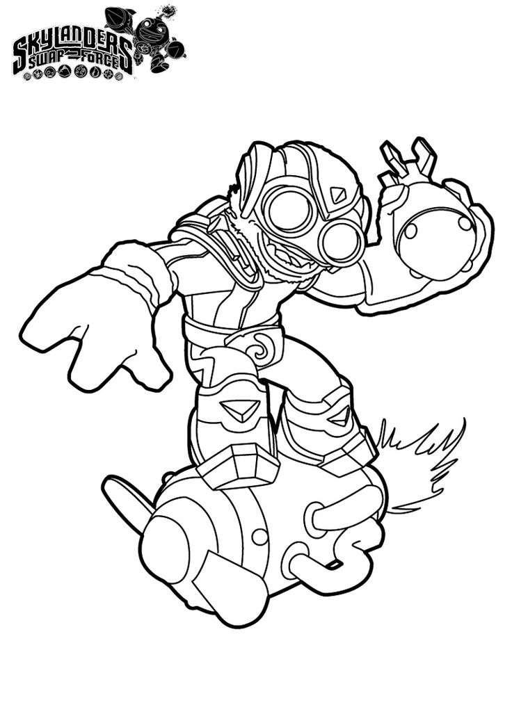 Skylanders camo free colouring pages for Skylander printable coloring pages