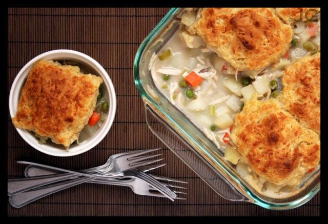 Turkey Potpie with Cheddar Biscuit Crust from Just Garnished | a ...