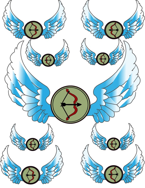 Angel wings pattern | Printables | Pinterest