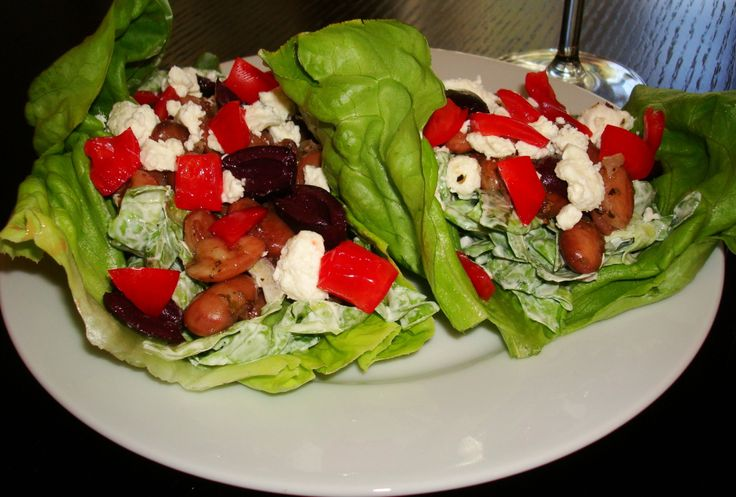 Cranberry Bean Lettuce Cups | Cooking Up Veggies | Pinterest