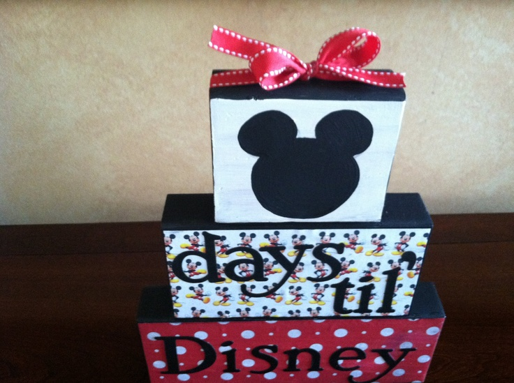 Disney countdown wood block set vacation countdown advent calendar