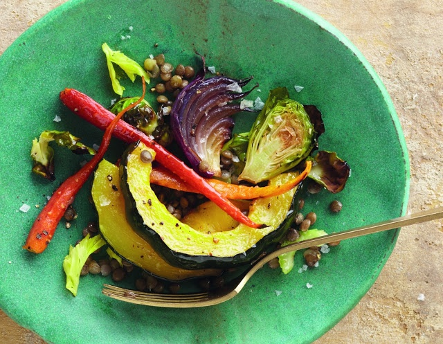 Roasted Fall Vegetables and Lentil Salad | hot and mostly vegan | Pin ...