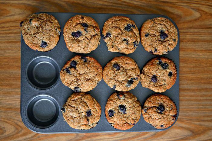 Whole Wheat Blueberry Muffins | Recipe