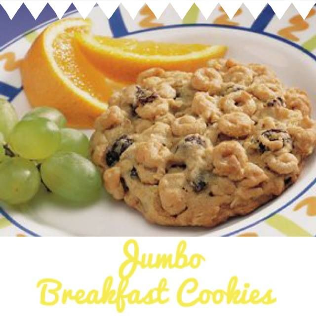 Jumbo Breakfast Cookies | Breakfast Treats | Pinterest