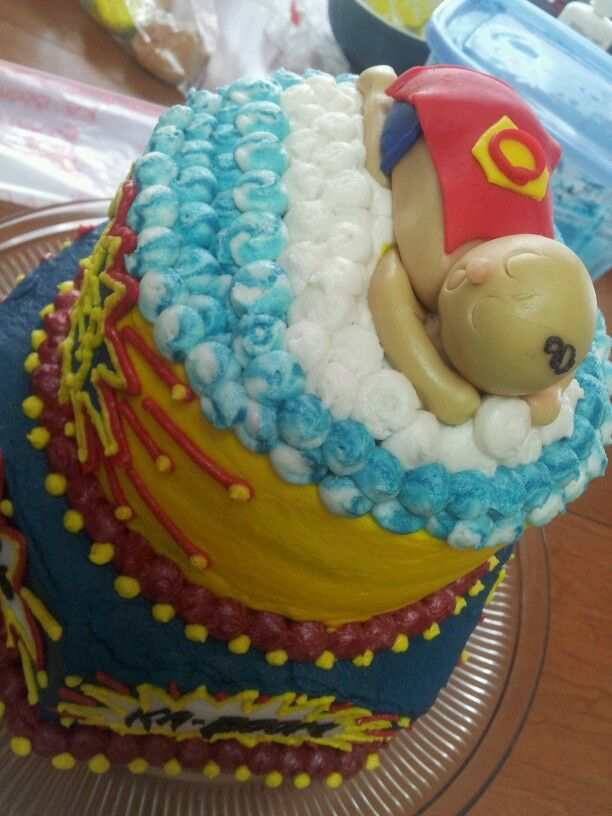 cake by annie sudduth superman baby shower cake