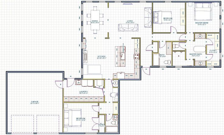 Garage conversion floor plan i want this in my house for Convert image to blueprint online