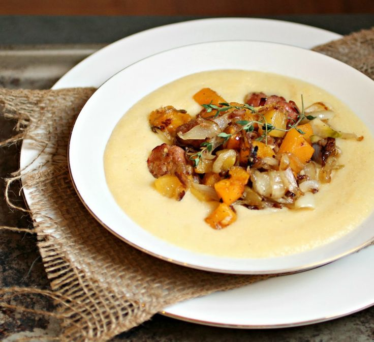 Hungry Couple: Polenta with Butternut Squash, Sausage and Caramelized ...