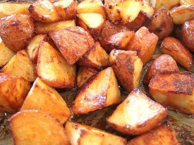 My Tasty Treasures: Honey Roasted Red Potatoes. Yum! Real easy too!
