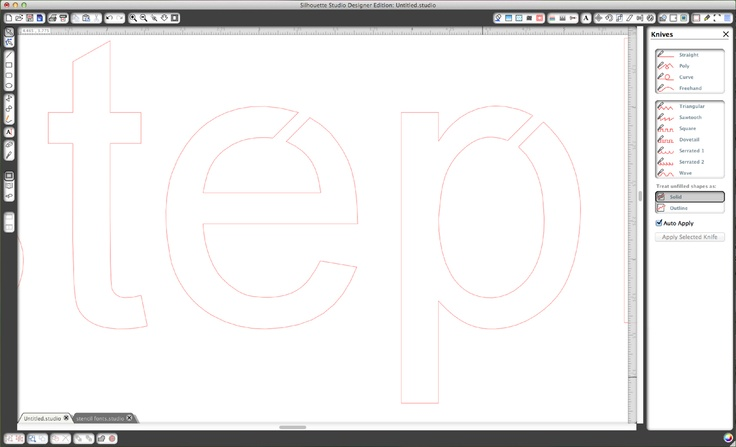 how to make an alphabet stencil - tutorial on the Silhouette blog #Cameo