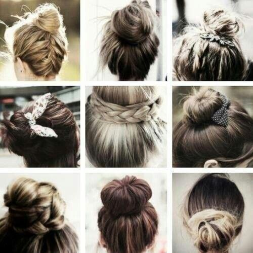 Different Types Of Haircuts : types of bun hairstyles hair & beauty. Pinterest