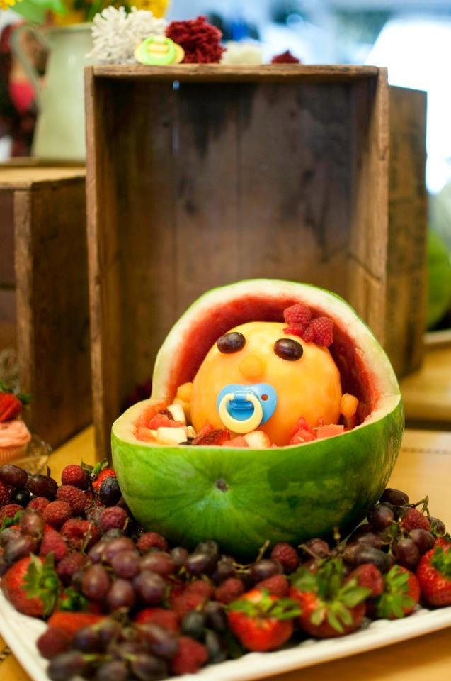 watermelon baby baby shower ideas pinterest