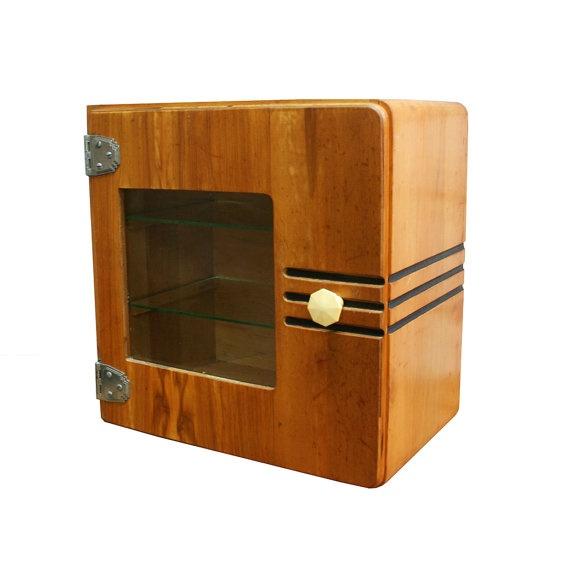 Vintage Art Deco Medicine Cabinet Streamlined Art Deco Furniture