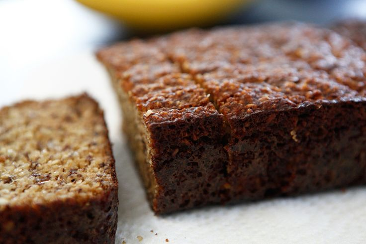 nutty paleo banana bread   Gluten Free   Pinterest