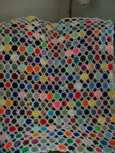 Yo-yo blanket Crochet stuff Pinterest