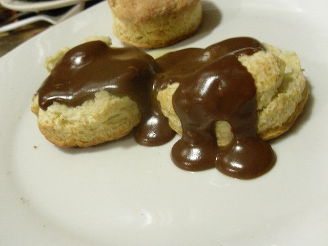 Biscuits with Chocolate Gravy | Breads/Breakfast | Pinterest
